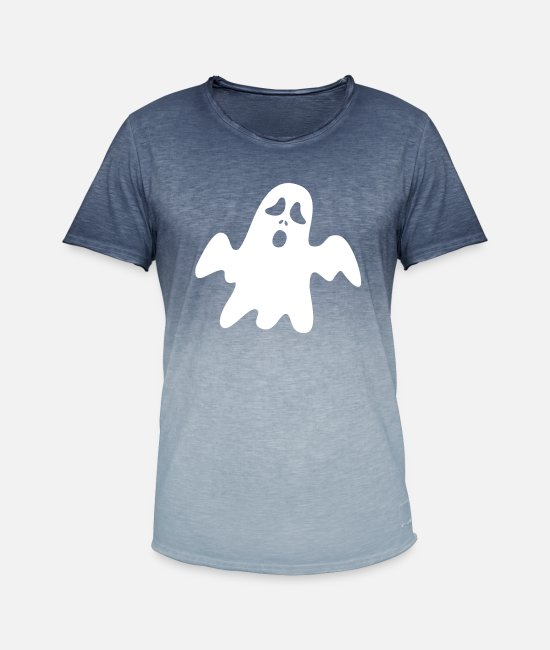Halloween T-Shirts - ghosts - Men's Colour Gradient T-Shirt dip dye denim