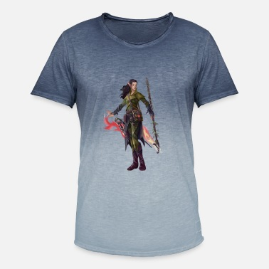 rpg-shirt Elf sorceress - Men's Colour Gradient T-Shirt