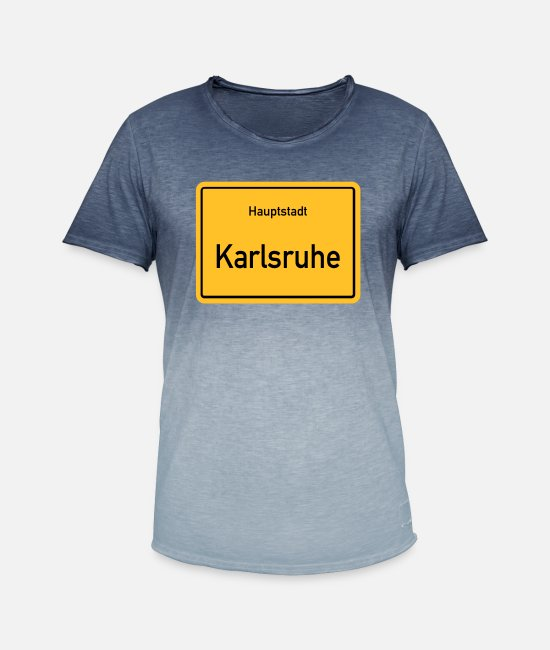 Karlsruhe T-Shirts - Capital Karlsruhe - Men's Colour Gradient T-Shirt dip dye denim