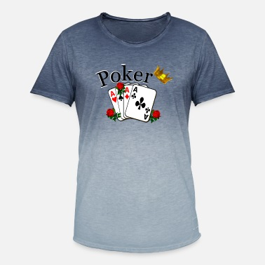 Pokeren poker - Mannen kleurverloop T-Shirt