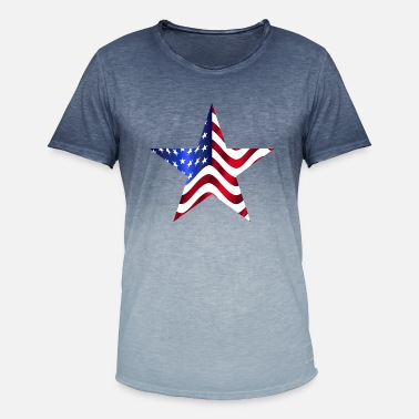 Stars And Stripes USA America flag stars and stripes star - Men's Colour Gradient T-Shirt