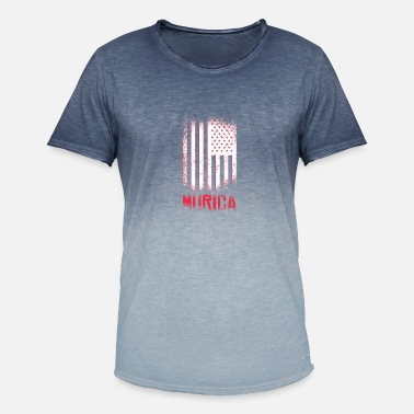 Murica Murica - flag - Men's Colour Gradient T-Shirt
