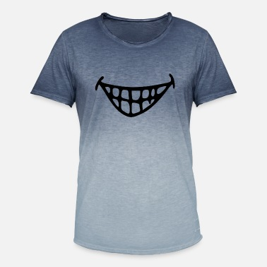 Griner Grinende mund. Grine. grin - T-shirt i colour-block-optik mænd