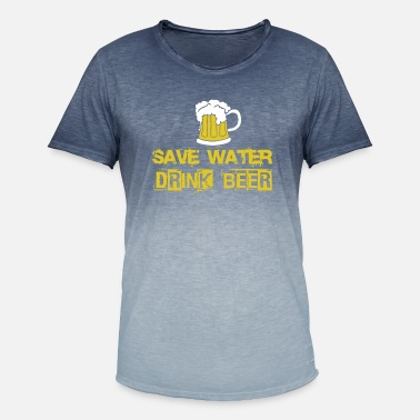 Drink SAVE WATER DRINK BEER SHIRT - Men's Colour Gradient T-Shirt