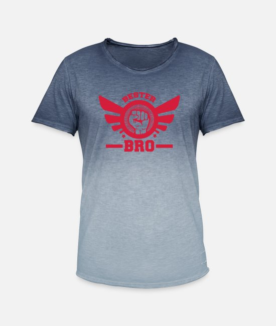 Brother T-Shirts - bro - Men's Colour Gradient T-Shirt dip dye denim