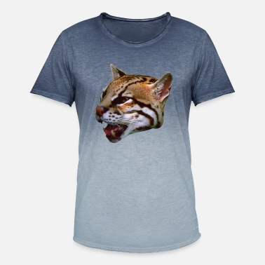 Wild Cat Couger Wild Cat - Mannen kleurverloop T-Shirt