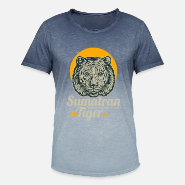 Sumatran Tiger Sumatran tiger shirt tees - Men's Colour Gradient T-Shirt