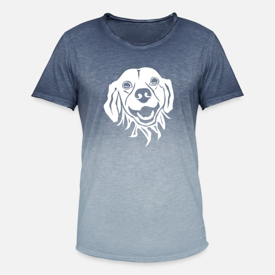 Golden Retriever T-shirts - Golden Retriever - T-shirt dégradé Homme bleu dip dye