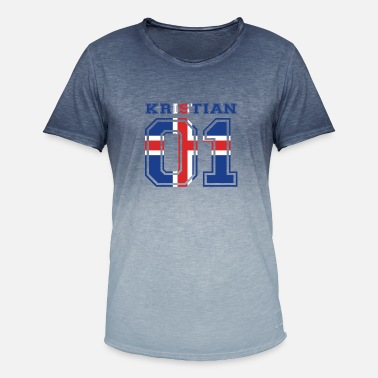 Kristian home roots name iceland island KRISTIAN - Men's Colour Gradient T-Shirt
