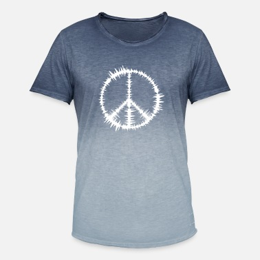 Peace-tegn Peace tegn - T-shirt i colour-block-optik mænd