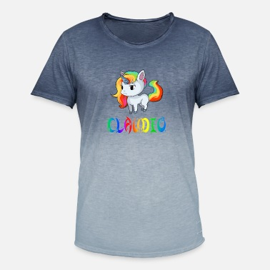 Claudio Claudio unicorn - Men's Colour Gradient T-Shirt