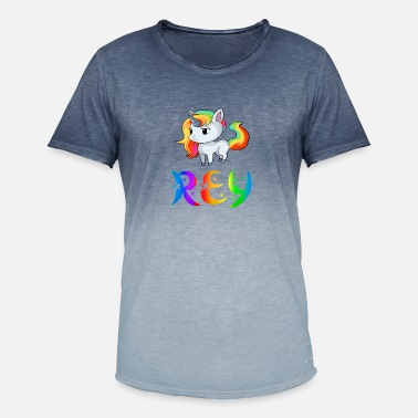 Rey Unicorn Rey - Men's Colour Gradient T-Shirt