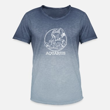 Geboorte Zodiac Waterman Gift geo Aquarius - Mannen kleurverloop T-Shirt