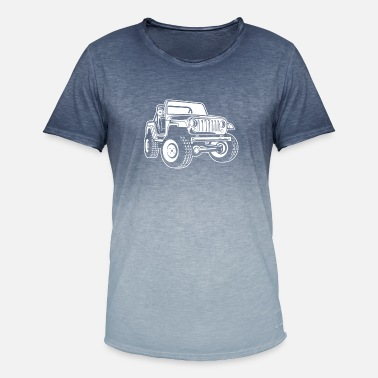 Jeep Off-road vehicle / Jeep SUV 03_white - Men's Colour Gradient T-Shirt