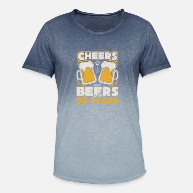 Beers Cheers and Beers to my 50 Years - Men's Colour Gradient T-Shirt