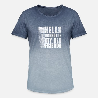 Darkness Hello Darkness, my old friend - Men's Colour Gradient T-Shirt