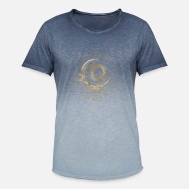 The sun and the moon with stars - Men's Colour Gradient T-Shirt