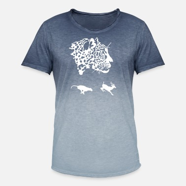 Cheetah gepard - Men's Colour Gradient T-Shirt