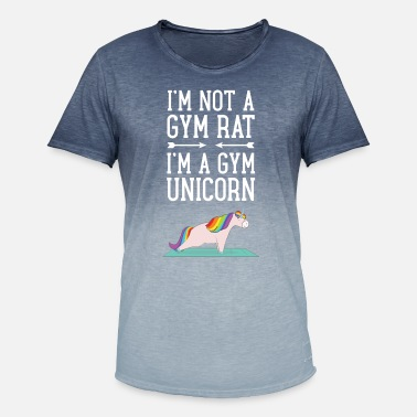 Rat I'm Not A Gym Rat - I'm A Gym Unicorn - T-shirt i colour-block-optik mænd