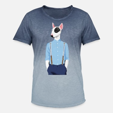 Bull Terrier Skinhead Bull Terrier - Men's Colour Gradient T-Shirt