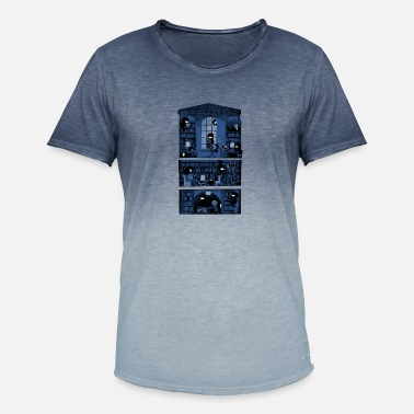 Maria Silence in the library - Men's Colour Gradient T-Shirt