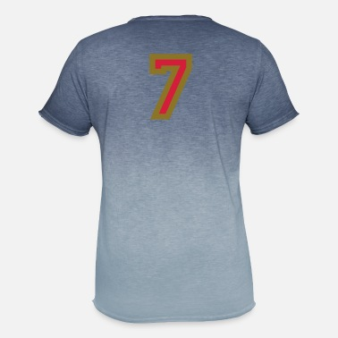 Number The number 7 - Number Seven - Men's Colour Gradient T-Shirt