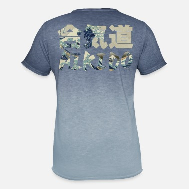 Hokusai Big Wave Aikido - Men's Colour Gradient T-Shirt