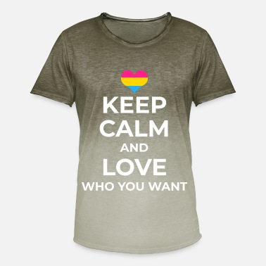Pansexual Love Who You Want Pansexual Bisexual LGBTQ Pride - Mannen kleurverloop T-Shirt