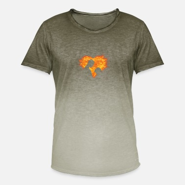Heart With Fire Fire heart - Men's T-Shirt with colour gradients