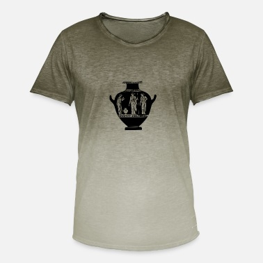 Vase Antique vase - Men's T-Shirt with colour gradients