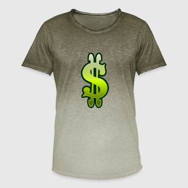 Money Dollar Sign Dollar sign dollar money - Men's T-Shirt with colour gradients