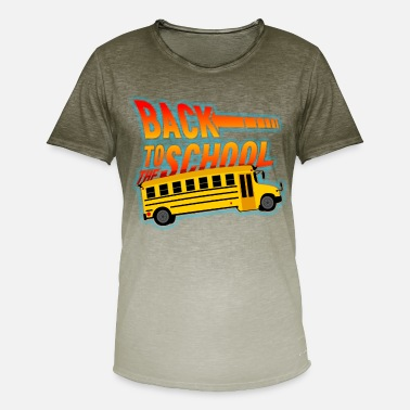Buss It back to the school - Men's T-Shirt with colour gradients