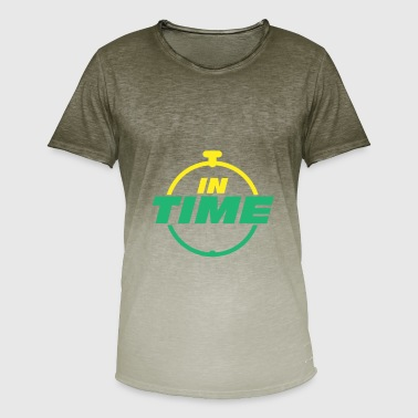 Times IN TIME In time Timely timing - Men's T-Shirt with colour gradients