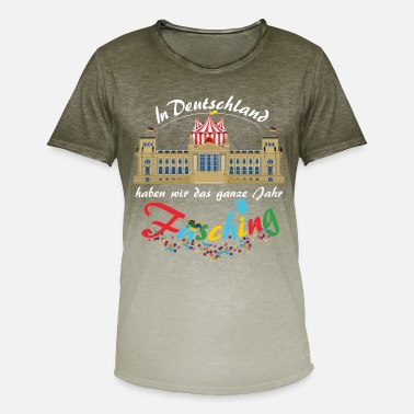 Bundestag Carnival in the Bundestag. Thank you Federal Chancellery - Men's T-Shirt with colour gradients