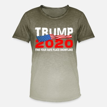 Presidential Election TRUMP 2020 Find Your Safe Place Snowflake - Men's T-Shirt with colour gradients