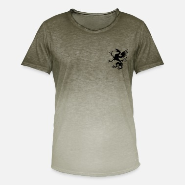 Griffon - sort - Herre T-shirt i colour-block-optik