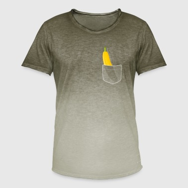 Fnise Funny Banana Pocket Shirt | gave - Herre T-shirt i colour-block-optik