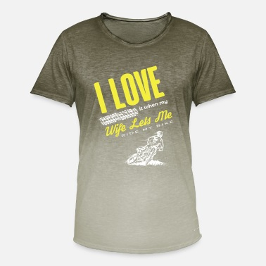 Motorcyclist Motorcyclist love motorcycle biker wife - Men's T-Shirt with colour gradients