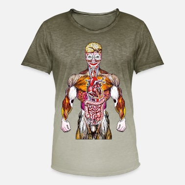 Anabolic Steroids BRAIN CLOWN STEROID - Men's T-Shirt with colour gradients