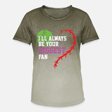 Biggest Fan I'll always be your biggest fan baseball shirt - Men's T-Shirt with colour gradients