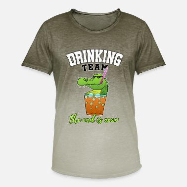 Cocktail Team Drinking Team JGA Cocktail Party Alcohol Gift - Men's T-Shirt with colour gradients
