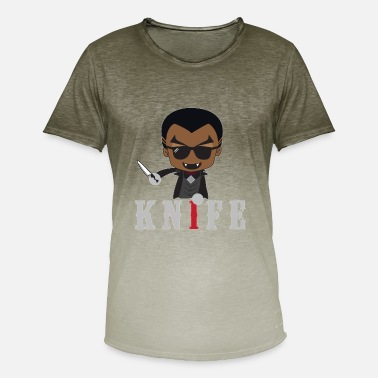 Knife Party Idea de regalo de Little Knife / Daywalker Vampire Teen - Camiseta degradada hombre