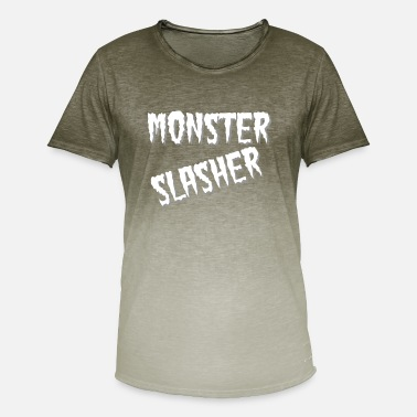 B Movie Monster slasher - Camiseta degradada hombre