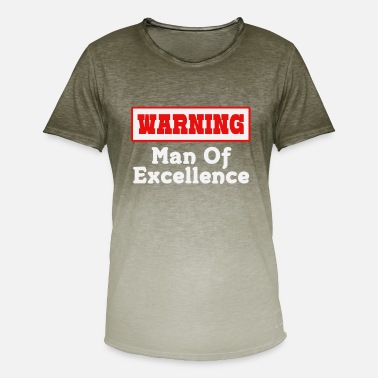 Volmacht Empowerment Excellence Tshirt Design Man of excellence - Mannen T-shirt met kleurverloop