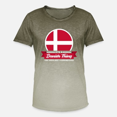 Denmark Denmark Danish Flag Country Nation Funny - Men's T-Shirt with colour gradients