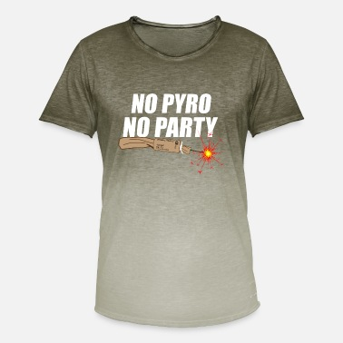 Pyro Clothing No Pyro No Party Trueno - Men's T-Shirt with colour gradients