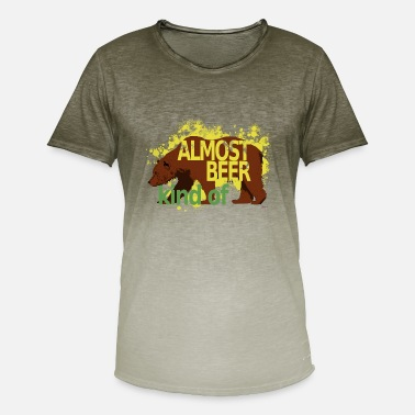 Rebus almost beer - Men's T-Shirt with colour gradients