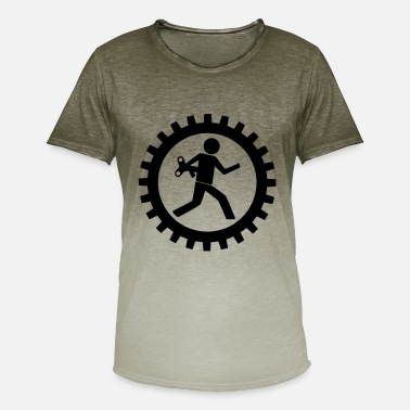 Workman Workman in the gear - Men's T-Shirt with colour gradients