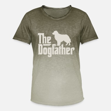 Golden Retriever Den Dogfather - Golden Retriever Labrador - T-skjorte med fargegradering for menn