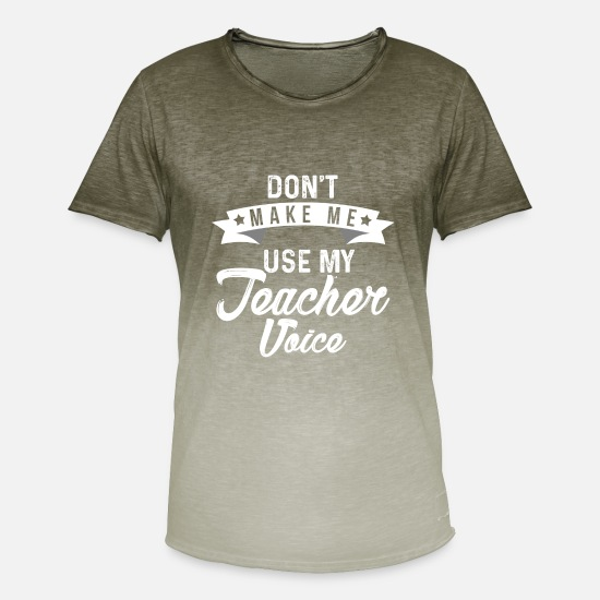 Voice T-Shirts - Funny teacher t-shirt - Men's Colour Gradient T-Shirt dip dye khaki